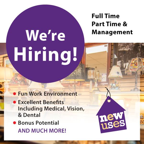 New Uses Is Hiring Retail Associates and Retail Store Managers in the Central Ohio Area. Apply Today!