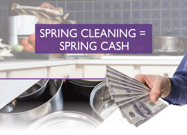 Clean out this spring and Cash In! We Buy and Sell Home Decor, Furniture, Small Kitchen Gadgets, Tools, Electronics, & More!